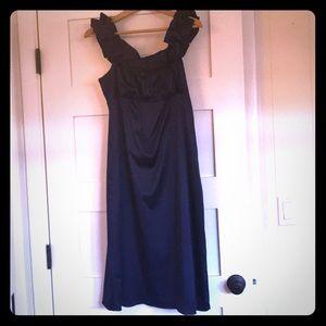 Sapphire blue silk dress